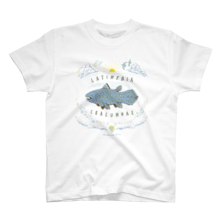 (線/カラー)シーラカンス  T-shirts