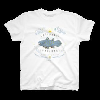 澄ノしおの(線/カラー)シーラカンス  T-shirts