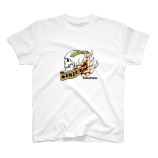 スカルハート02 T-shirts