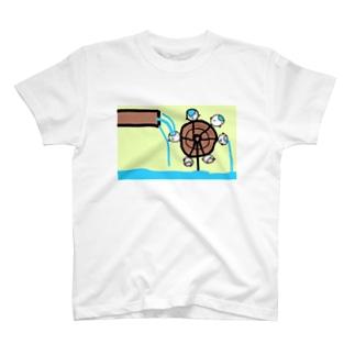 水車として手伝うねこたちです T-shirts
