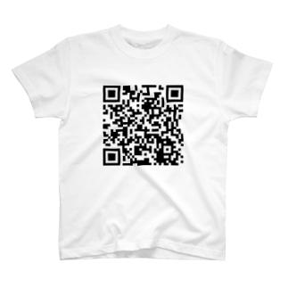 レッドシューズYouTubeQRコード T-shirts