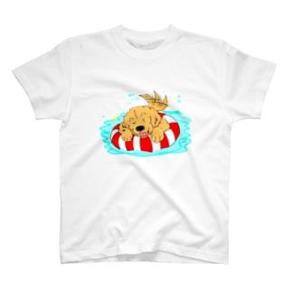浮き輪とゴールデン T-shirts