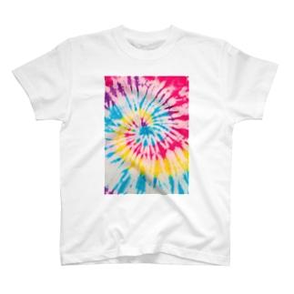 レインボータイダイ T-shirts