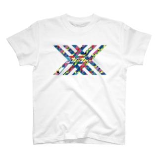 斬る'em ALLの【KJデザイン】 カラフル的な T-shirts