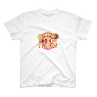 リンゴとチャイナ T-shirts
