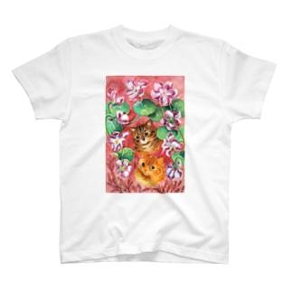 パンジーとタビー(トラネコ) T-shirts
