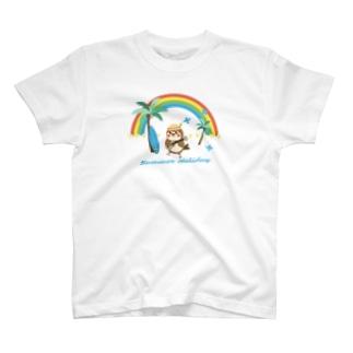 aliveONLINE SUZURI店のだいきち(サマホリ) T-shirts