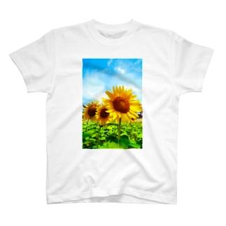 青の願望(向日葵) T-shirts