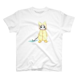 Tio Heartilの梅雨ねこちゃん T-shirts