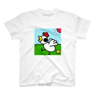 Goaled shopのにわとりとひよこ T-shirts
