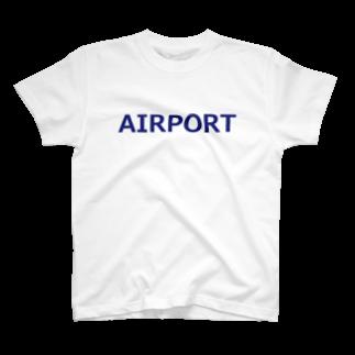 アメリカンベースのエアライングッズ AIRPORT T-shirts