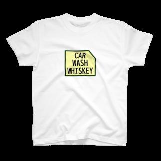 UNIQUE MANIACのカーウォッシュウィスキーロゴ T-shirts