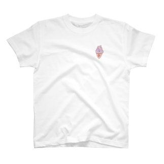 Nostaple のピンクっぽいソフトクリーム T-shirts