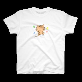 eigoyaのすきっぷする茶トラ猫 T-shirts