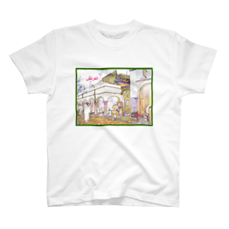 FUCHSGOLDのCG絵画:アライシュのカスバ CG art: Larache T-shirts