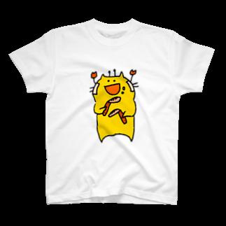 きいろいねこ屋さんのカニがうまい T-shirts