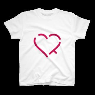 レオナの作字「ハート」 T-shirts