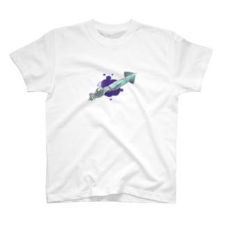 ダイイングイカメッセージ T-shirts