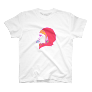 okazu092の女の子の横顔 T-shirts