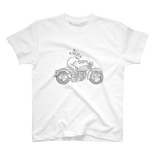 鳥獣戯画現代版 バイク T-shirts