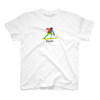 Poser.のcolorful surfer T-shirts