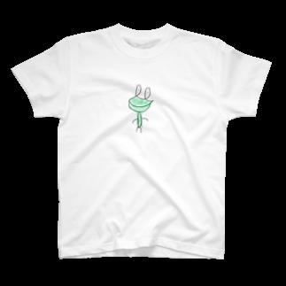 Navy-boyの一筆書きカエル T-shirts