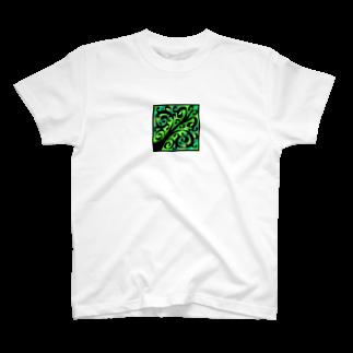天獄堂のTile02 T-shirts