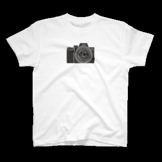 610-designの葛飾北斎×カメラ T-shirts