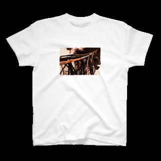 パセリ栽培場の鉄骨 T-shirts