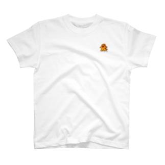 ミープル・オレンジ ワンポイント T-shirts