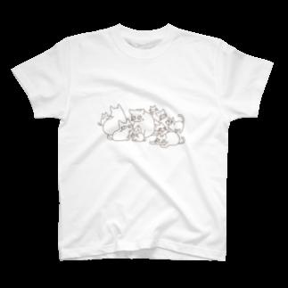 73catのいっぱい猫ちゃん T-shirts