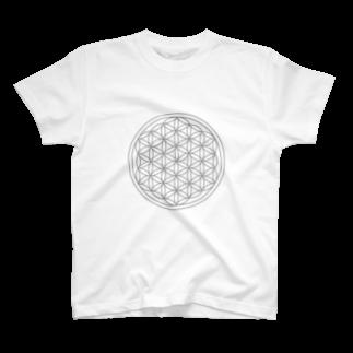 agehadouのフラワーオブライフ T-shirts