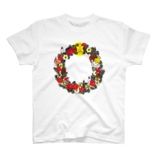 クリスマスリース T-shirts