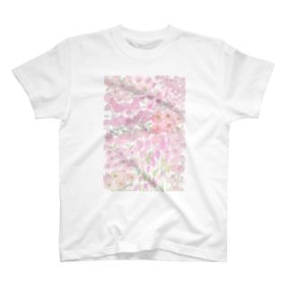 garden dream /pink T-shirts
