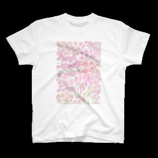 ℂ𝕙𝕚𝕟𝕒𝕥𝕤𝕦 ℍ𝕚𝕘𝕒𝕤𝕙𝕚 東ちなつのgarden dream /pink T-shirts