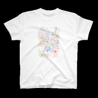 しろいちょこのいっぱいALOHA T-shirts