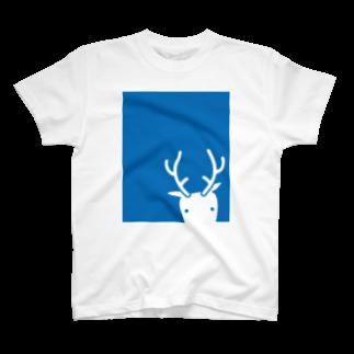 鹿手袋シカテグッズ屋のシカテ四角 T-shirts