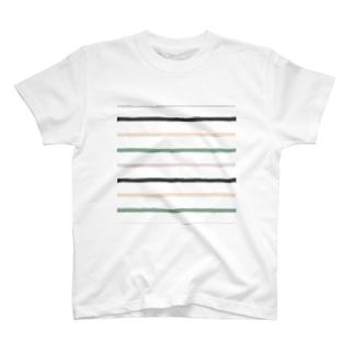 ノスタルジック横線。 T-shirts