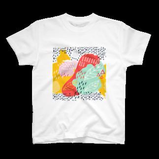 SANKAKU DESIGN STOREの南国fruitsモダンアート。 T-shirts