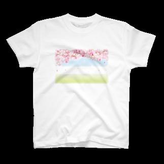 orange_honeyの桜45 T-shirts