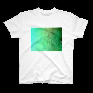 古春一生(Koharu Issey)のメロンソーダの海。(薄濃) T-shirts