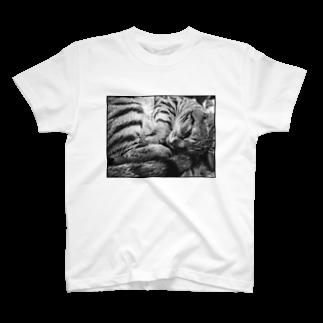 古春一生(Koharu Issey)の微睡みのR(白) T-shirts