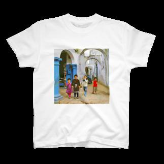 FUCHSGOLDのCG絵画:アライシュの風景画 CG art: Larache T-shirts