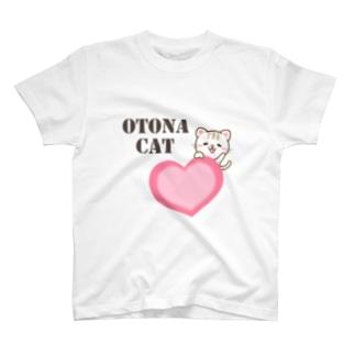 大人のためのねこのハート T-shirts