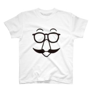 鼻ヒゲマスターの顔シャツ T-shirts