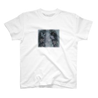 Mのレントゲン透かし T-shirts
