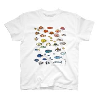らくがきしまのなかま魚類 T-shirts