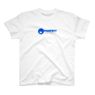 ぽんぷくん 文字つき 青 T-shirts