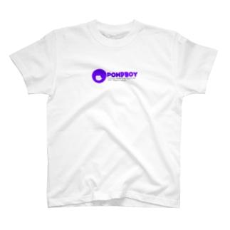 ぽんぷくん 文字つき 紫 T-shirts