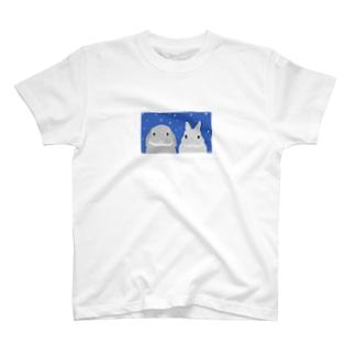 二匹で来た雪女兎 T-shirts